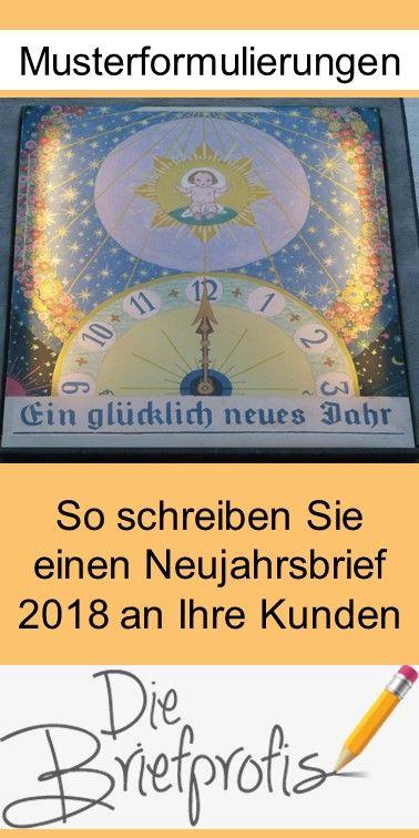Mustertext Fur Einen Neujahrsbrief 2018 Buro Korrespondenz Brief Neujahr Geschaftsbrief