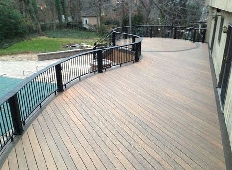 Composite Decking Is An Excellent Alternate To All Wood Decking And Also Is Made From Materials That Include Reuse Wood Deck Composite Decking Decking Material