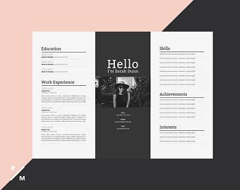 Creatief Cv Sjabloon Horizontale Landschap Moderne Professioneel Cv Eenvoudige Cv Digitale Download Creative Resume Creative Resume Templates Creative Cv