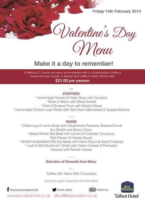 Talbot Hotel Valentine's Day poster