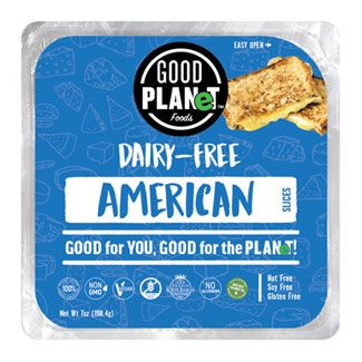 Good Planet American Style Cheese Slices Dairy Free Plant Based Cheese Dairy Free Cheese