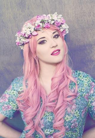 Sweet pea Flower Crown...holiday hair accessories