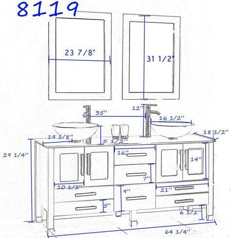 Bathroom Vanity Plumbing Rough In Dimensions 72 With