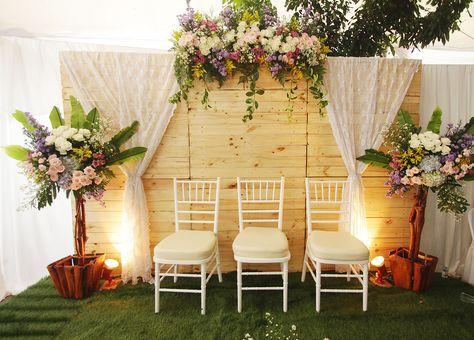 wedding rustic stage simple 61 new ideas   dekorasi