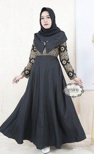 Contoh Model Baju Gamis Batik Terbaru