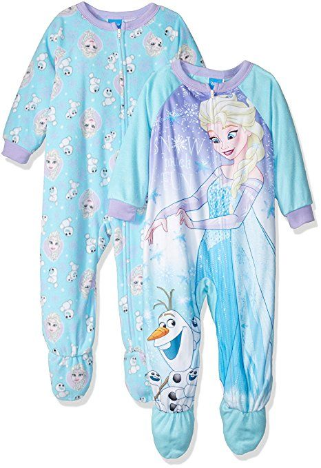 Disney Frozen Pajamas Elsa Anna Footed Blanket Sleeper for Toddlers