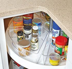 Conquer Clutter Increase Storage On Your Lazy Susan Wedge
