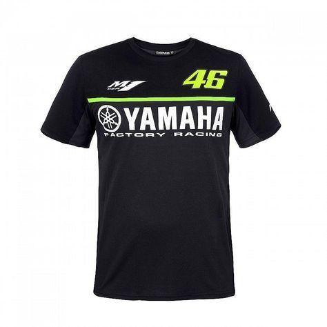 2017 Valentino Rossi VR46 for Yamaha Racing Black MotoGP Men s T-Shirt  Quick Dry Jersey 04cc783d0b60f