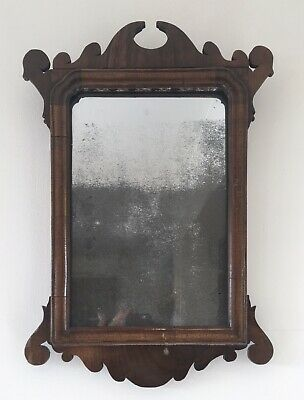 Small Antique Mahogany Veneer Wall Mirror 18thc Wooden Georgian Fretwork Hall Ebay In 2020 Mirror Wall Hall Mirrors Vintage House