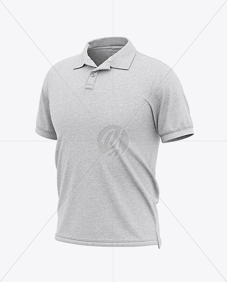 Download Men S Heather Short Sleeve Polo Shirt Front Half Side View In Apparel Mockups On Yellow Images Object Mockups Short Sleeve Polo Shirts Clothing Mockup Shirts