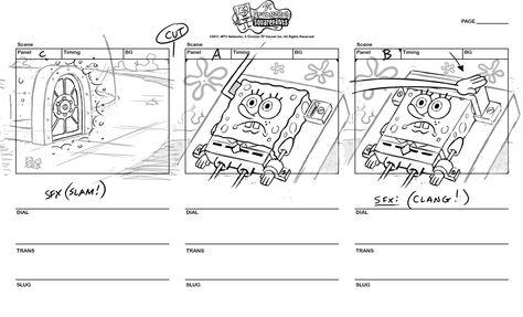 Giovanny Cardenasu0027s Portfolio - Spongebob Square Pants - what is storyboard