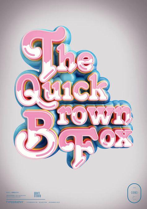 Peter Tarka's Amazing 3D Typography