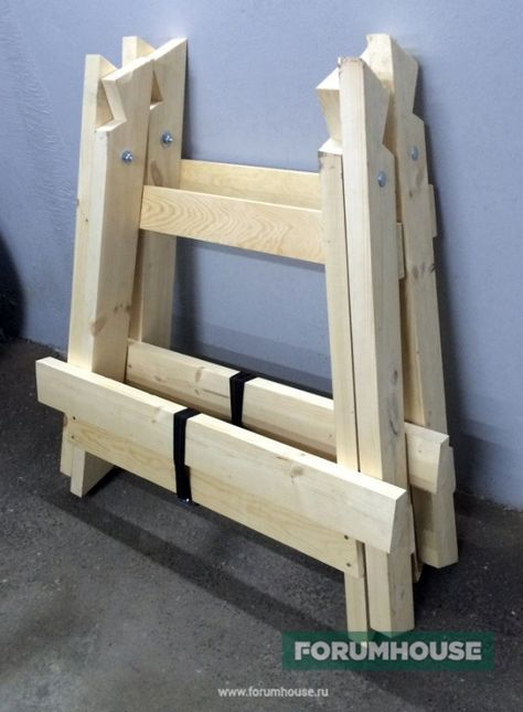 Универсальные складные козлы. Процесс изготовления столярных козел своими руками. - Дом и стройка - Статьи - FORUMHOUSE