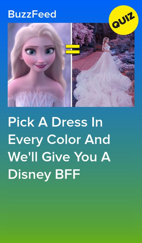 Pick A Dress In Every Color And We'll Give You A Disney BFF  Rapunzel.  5/25/20