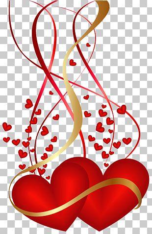 Ilustracion De Dos Corazones Rojos Corazon De San Valentin Decoracion De Corazones De San Valentin Png Clip Valentines Day Hearts Clip Art Heart Illustration