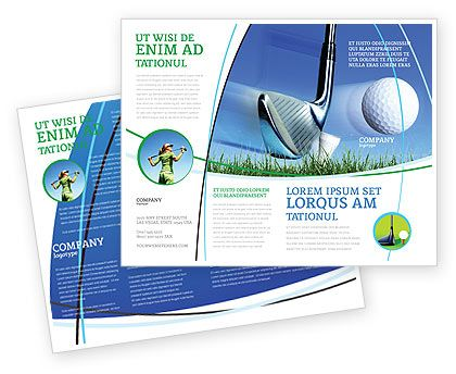 golf brochure Slight Bump In Golf Brochure Template Design and - download brochure templates for microsoft word