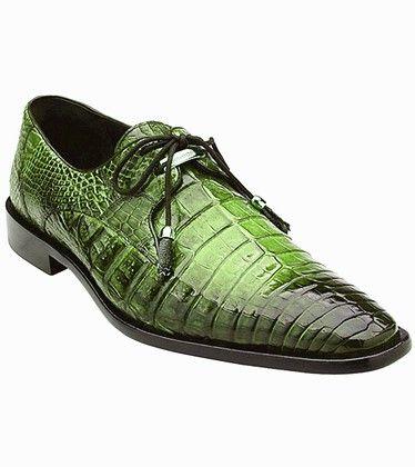 Crocodile shoes-Green | Black shoes men