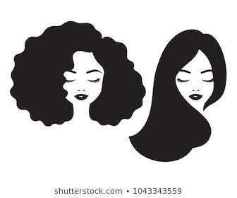 Vector Illustration Black Woman Afro Hair Stock Vector Royalty Free 1199920558 Black Woman Silhouette Woman Face Afro Hair Illustration