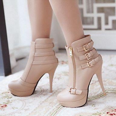 zapatos botas de moda tacón de aguja botines más colores de las mujeres disponibles - USD $ 34.99