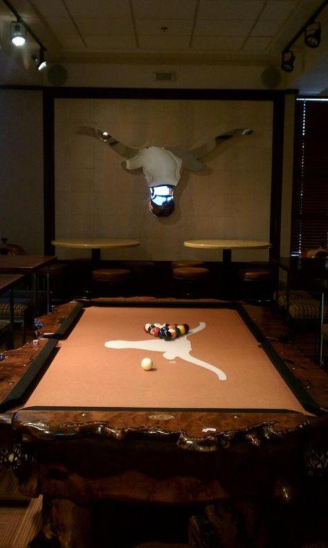 Longhorn Pool Table Man Cave Man Cave Home Bar