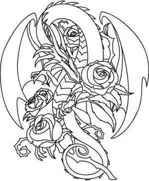 rose dragon design uth3201 from urbanthreadscom