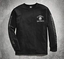 1d24c33f Men's Skull Long Sleeve Tee - White   For Men   Official Harley-Davidson  Online Store