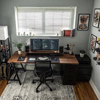 Masculine Home Office Workspace Decor Ideas Inspiration Modern