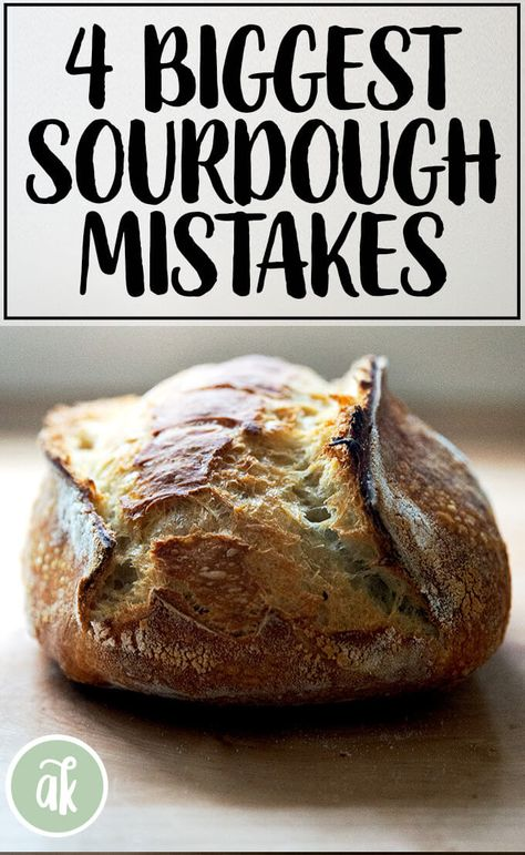 Sourdough is a journey. Failure is a rite of passage. This post addresses the 4 common mistakes people make when making sourdough bread and also answers a number of FAQs. #sourdough #bread #baking #mistakes