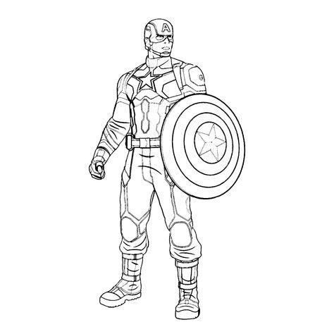 Kleurplaten Marvel Avengers.Leuk Voor Kids Captain America Kleurplaten