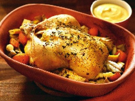 kyckling i lergryta recept