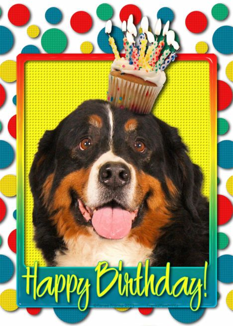 Bernese Mountain Dog Mother/'s Day Card PERSONALISATION AVAILABLE