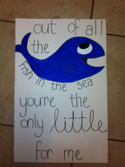 Make it a dolphin and post it on your little's door!