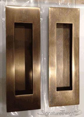 Brass Rectangle Flush Door Pulls Sliding Door Finger Pulls Brass Door Hardware In 2020 Flush Doors Brass Door Rectangle