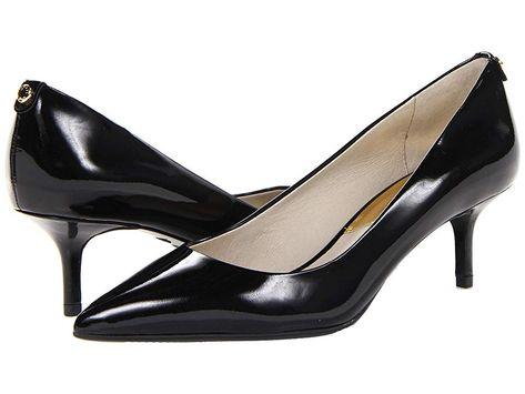 reasonable price factory outlets huge inventory MICHAEL Michael Kors MK Flex Kitten Pump High Heels Black Patent ...