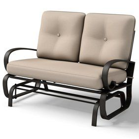 a2dcf39985a7f3f610944c2657722d5e - Better Homes And Gardens Colebrook Outdoor Glider Bench