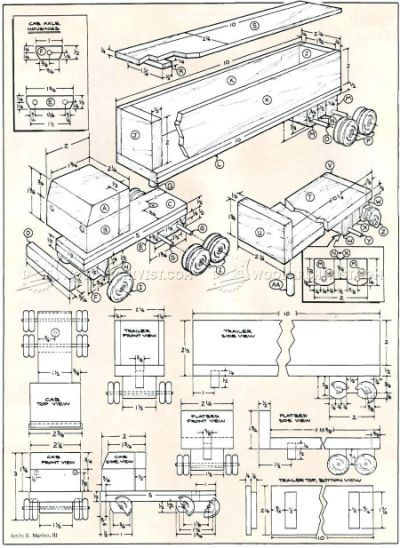 Free Wooden Toy Plans Printable Wooden Toy Trucks Diy