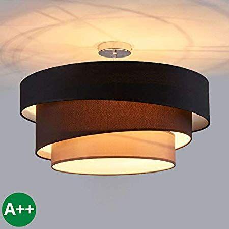 Lampenwelt Deckenlampe Jayda Dimmbar Modern In Braun Aus Textil U A Fur Wohnzimmer Esszimmer 1 Flammig E27 A In 2020 Deckenlampe Deckenlampe Holz Lampen