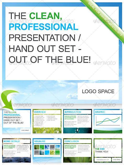 clean, modern presentation / handout set | print templates, Presentation templates