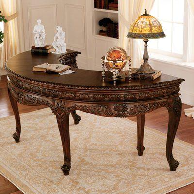 Design Toscano Grande Writing Desk Furniture Mahogany Desk French Furniture