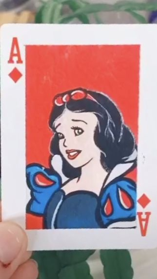 Pin By Heather Ory On Tik Tok Cards Disney Canvas Art Playing Cards Art Card Art