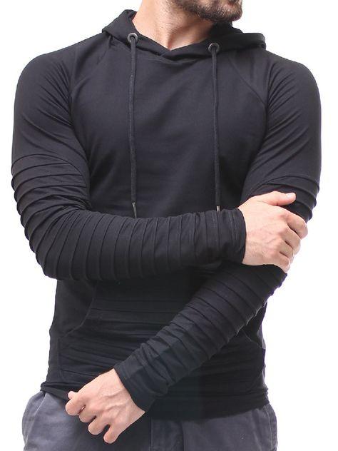 Vska Mens Outwear Hooded Autumn Winter Pullover Regular-Fit Christmas Day Sweatshirts