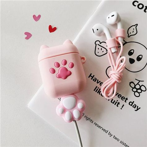 Cute Pink Cats Paw Airpods Protective Case – juwas.com online store
