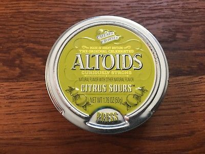 Altoids Sours Curiously Strong Citrus Discontinued, RARE 2 Sealed Tins