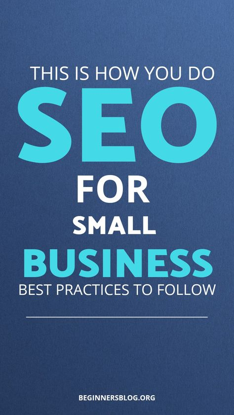 This is how you do SEO for small business: best practices to follow