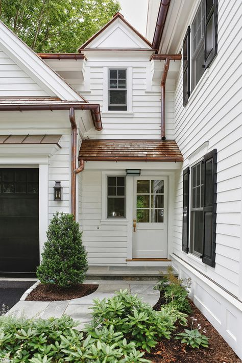 New traditional colonial. DeRosa Builders, Greenwich, CT. love the copper roof!