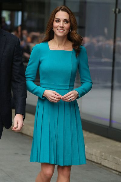 Prince William, Duke of Cambridge, and Catherine, Duchess of Cambridge visit BBC Broadcasting House.