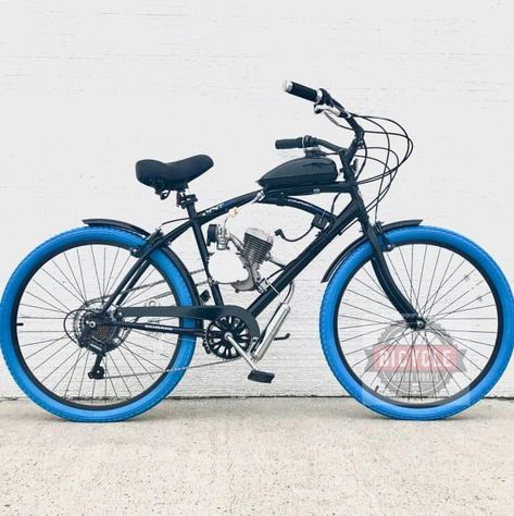 Blue Bruiser Motorized Bike Kit With Images Motorised Bike