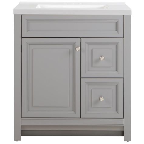 Style Selections Delyse 30 5 In Gray Single Sink Bathroom