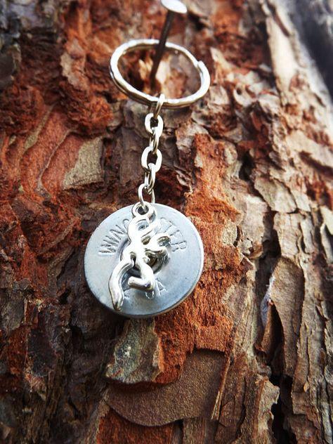 Shotgun shell key chain with deer charm by SouthernTouchDesigns #shotgun #keychain #redneck