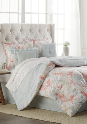 Modern Southern Home 6 Piece Flower Meadow Comforter Set